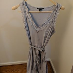 Banana Republic Cotton Gray dress with a waist tie